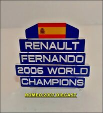 1:18 Pitboard F1 Formula1 Fernando Alonso Renault W.C. 2006 to minichamps NEW