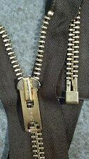 "USA VTG RARE NOS Jacket Zipper TALON #10 Separating Metal BRASS 26"" BROWN/COTTON"