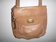 FOSSIL BRAND CAMEL   LEATHER   Crossbody Messenger Handbag