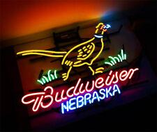 BUD Beer Nebraska Bar Pub Creative Neon Sign Bistro Wall Decor Custom Display