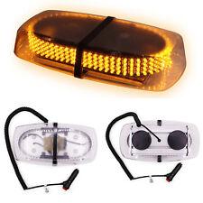 UK Car 240 LED Amber Warning Strobe Light Recovery Beacon Magnetic Emergency Bar
