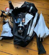 Portaflash 336VM Studio Light Kit (2 flash heads, brollies, stands, bag & more)