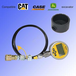 Digital Hydraulic Pressure Test coupling&Gauge Boot 700BAR Kit for Caterpillar