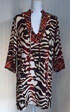 Women's Animal print Rayon tunic Top by Ku De Ta size Medium