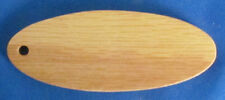 """Small Oval Oak Wooden Blanks For Engravers - Lot of 50 - 5/32"""" Drilled Hole"""