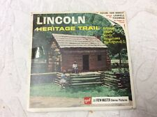 21 View Master Stereo Pictures Of The Lincoln Heritage Trail With Book A 390