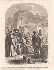 Houtgravure Vlaanderen Jacoba van Beijeren Hertog Filips Frank van Borssele
