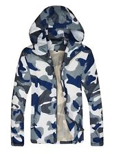 Men Camouflage Camo Army Windbreaker Waterproof Jacket