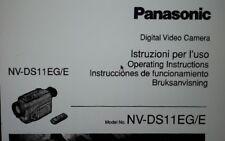 manuale utente videocamera digitale camera video Panasonic NV-DS11EG su carta a4