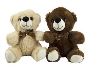 1 X PLUSH BEAR w/ RIBBON cuddly gift kids baby toys teddy soft toy christmas