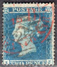GB UK 1854/5 STAMP Sc. # 10 PERF: 16x16 USED 2d