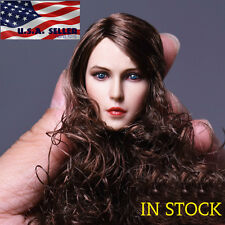 "1/6 Female Head Sculpt Long Curly Hair For 12"" Phicen Hot Toys Figure ❶USA❶"