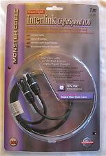 Monster Cable Interlink LightSpeed 100 Digital Fiber Optic Audio 1m/3.3' TOSLINK