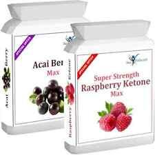 90 Raspberry Ketone Plus 90 Acai Berry Advanced Weight Loss Slimming Diet Pills