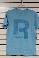 Reebok Boy/'s Royal Purple//Black T-Shirt With Big R Graphic Size S-XL Brand New
