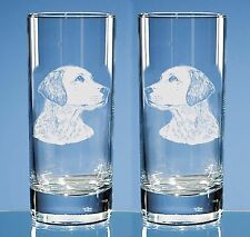 More details for set of 2 labrador retriever engraved highball glasses, dog lover gift