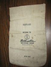 Vintage Northwestern National Bank Bag; MINNEAPOLIS, MINNESOTA 55440