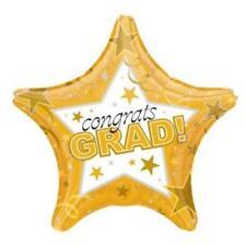 Graduation Gold Congrats Grad Star 19-Inch Foil Balloon