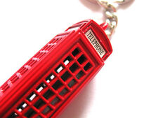 London Telephone Box Keychain British Red Telephone Booth Key Ring New Souvenir