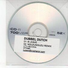 (DV348) Dubbel Dutch, B Leave - DJ CD
