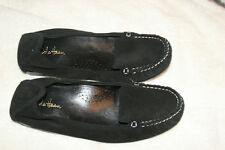 COLE HAAN NIKE AIR BLACK SUEDE FLATS LOAFERS / SLIPPERS SIZE 6 NEW