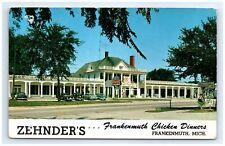 Postcard MI Frankenmuth Zehnder's Chicken Dinners Vtg Photo View D4