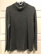 JM Collection Charcoal Gray Turtleneck Sweater Womens L