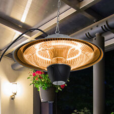 More details for outsunny patio heater ceiling hanging light 1500w pull switch electric aluminium