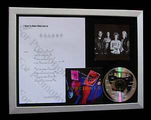 FOREIGNER Want To Know Love Is QUALITY CD MUSIC FRAMED DISPLAY+FAST GLOBAL SHIP