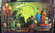Scary Gothic WITCH DEN MURAL Potion Spell Wall Poster Haunted House Decoration