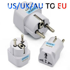 Multipurpose UK US AU to EU European Power Socket Plug Adapter Travel Converter
