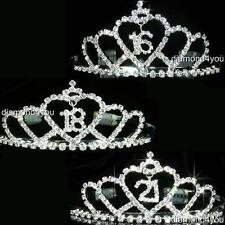 SALE Prom 16 18 21 Years Old Crystal Silver Headband Tiara Xmas Party T1084
