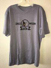 travis mathew Zalloween Suckz Mens Tee T-shirt Gray Size X-large