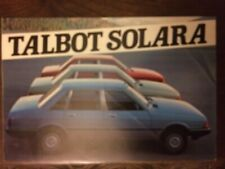 Catalogo Automóvil Talbot Solara