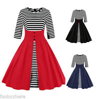 Vintage Style Womens 1940s 50s Rockabilly Retro Swing Pinup Evening Party Dress