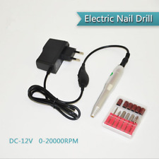 Electric Nail Art Drill Tips Manicure Set File Nail Grinder Polisher Tool Kit