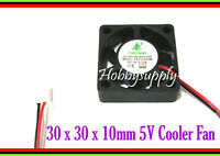 2x 5V 30x30x10mm Mini DC Axial Cooling CPU Fan Computer Laptop Server 3D Printer