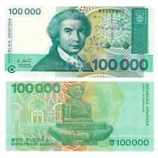 Pick 27a Kroatien / Croatia 100000 Dinara 1993 Unc. / 373541vvv