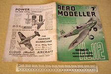 1940 Vintage Aero Modelador Mag V5 #54 Heinkel He112 Fighter portada.
