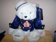 White Plush Teddy Bear 2000 Americana Limited Edition CAPOZZI design  SINGING!