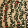 2X 2.5m Artificial Flower Silk Rose Leaf Garland Vine Ivy Wedding Garden Decor