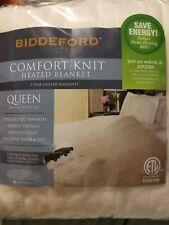 Biddeford Comfort Knit Queen Heated Blanket