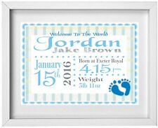 Personalised baby boy gift ebay baby boys name personalised picture new baby gift free post negle