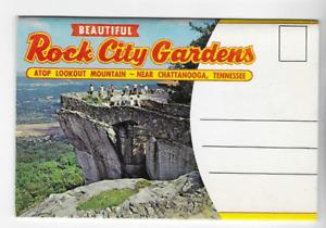 POSTCARD FOLDER-ROCK CITY GARDENS-LOOKOUT MOUNTAIN