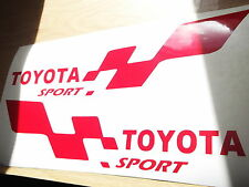 TOYOTA sport  LARGE car vinyl sticker decal x2