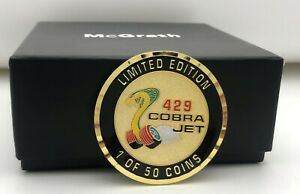 429 CJ COMMEMORATIVE COIN WITH BAG - FORD MUSTANG - DRAG RACING-TORINO