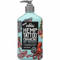 Hemp Tattoo Enhancing Full Body Moisturizer Coconut Oil With Handy Pump 12 Fl Oz