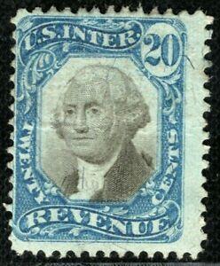 USA Revenue Stamp 20c INTERNAL REVENUE Unused? {samwells-covers}2RGREEN68