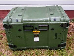 """ECS Hardigg Style Large Shock Rack Military Storage Case Container 35x22.5x26.5"""""""