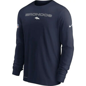 New 2021 Denver Broncos Nike Sideline Team Issue Performance Long Sleeve T-Shirt
